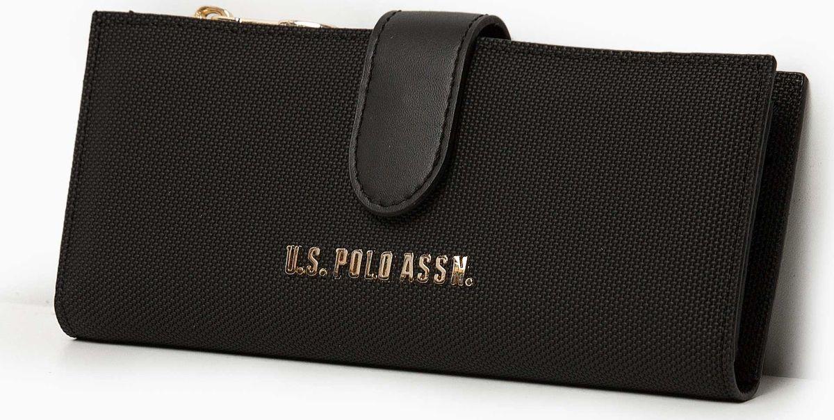 Портмоне женское U.S. Polo Assn., A082SZ0CD0K8BENITO_VR046, черный женское платье polo