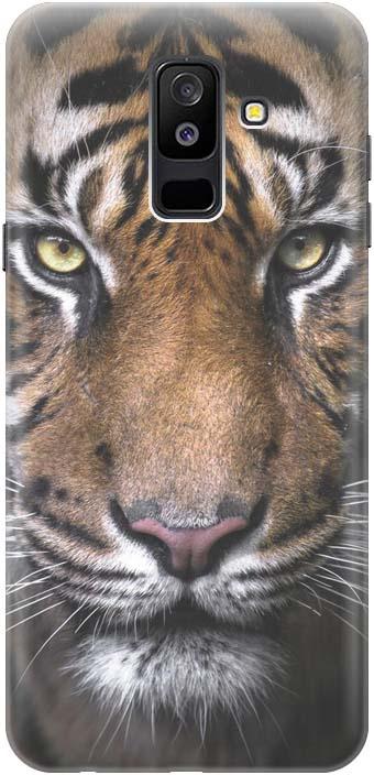 "Чехол-накладка Gosso Cases ""Тигр"" для Samsung Galaxy A6 Plus (2018) A605G, 180095, коричневый"