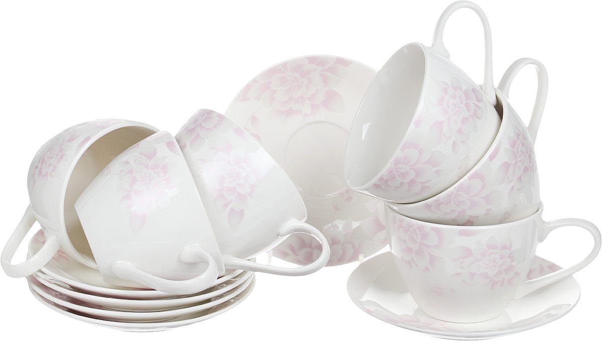 Чайный набор на 6 персон, 315 мл/14,5 см, костяной фарфор, Peonies, Esprado, PEO031PE304 Уцененный товар (№6)