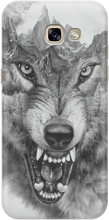 Фото - Чехол-накладка GOSSO CASES Волк в горах для Samsung Galaxy A5 (2017) A520F, 180143, силиконовый проводной и dect телефон foreign products vtech ds6671 3