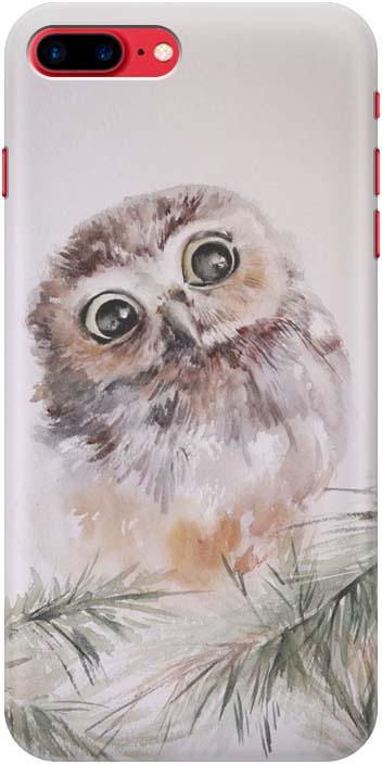 Фото - Чехол-накладка GOSSO CASES Совенок для iPhone 7 Plus / iphone 8 plus, 183415, силиконовый проводной и dect телефон foreign products vtech ds6671 3