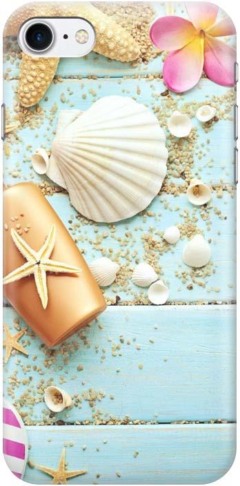 Фото - Чехол-накладка Gosso Cases Пляжный натюрморт для iPhone 7 / iPhone 8, 180258, разноцветный проводной и dect телефон foreign products vtech ds6671 3