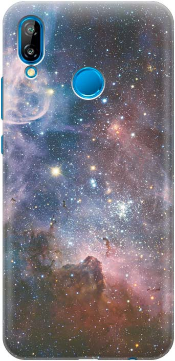 Фото - Чехол-накладка GOSSO CASES Космос для Huawei P20 Lite, 180032, силиконовый проводной и dect телефон foreign products vtech ds6671 3