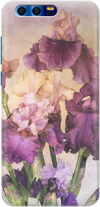 "Чехол-накладка Gosso Cases ""Фиолетовые цветы"" для Huawei Honor 9, 190294"