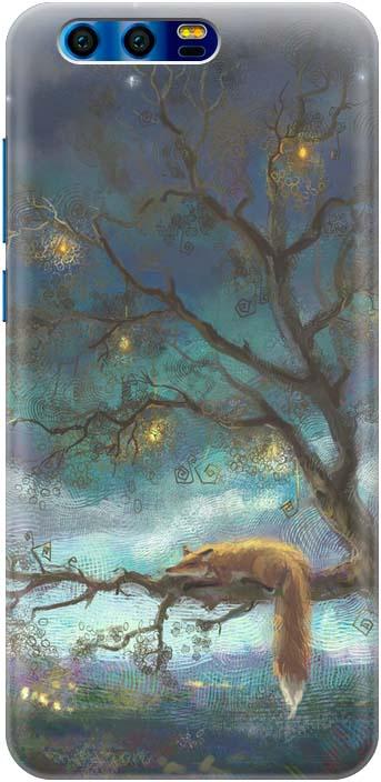 "Чехол-накладка Gosso Cases ""Лиса на дереве"" для Huawei Honor 9, 180042"