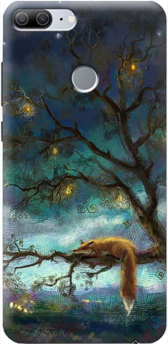 """Чехол-накладка GOSSO CASES """"Лиса на дереве"""" для Huawei Honor 9 Lite, 180053, силиконовый"""