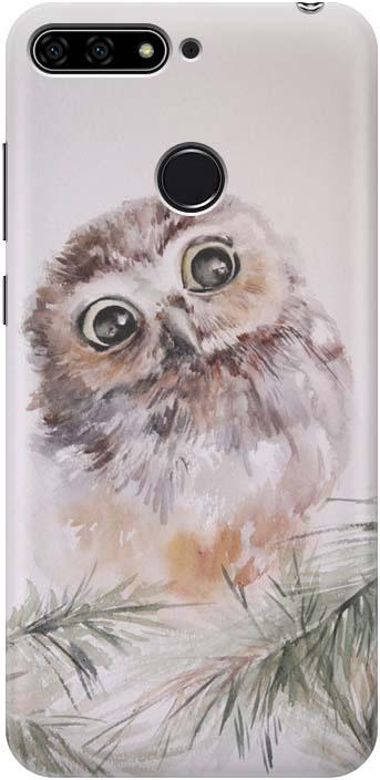 Чехол-накладка GOSSO CASES Совенок для Huawei Honor 7C, 183396, силиконовый