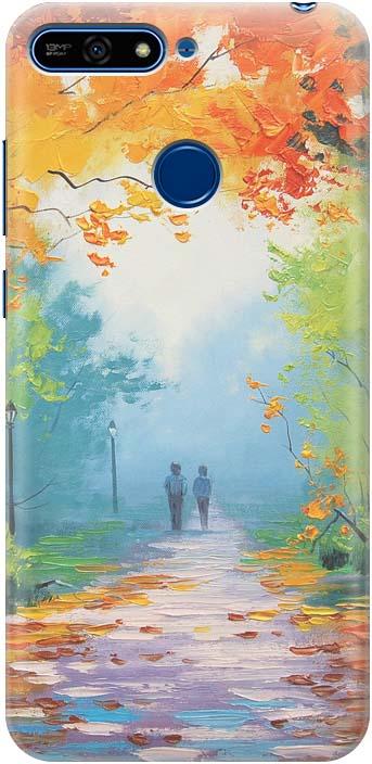 Фото - Чехол-накладка GOSSO CASES Яркая осень для Huawei Honor 7A Pro, 190292, силиконовый проводной и dect телефон foreign products vtech ds6671 3