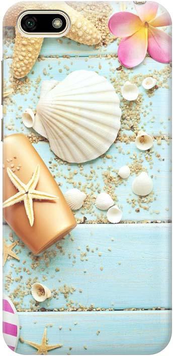 Чехол-накладка GOSSO CASES Пляжный натюрморт для Huawei Y5 2018, 183568, силиконовый телефон y5