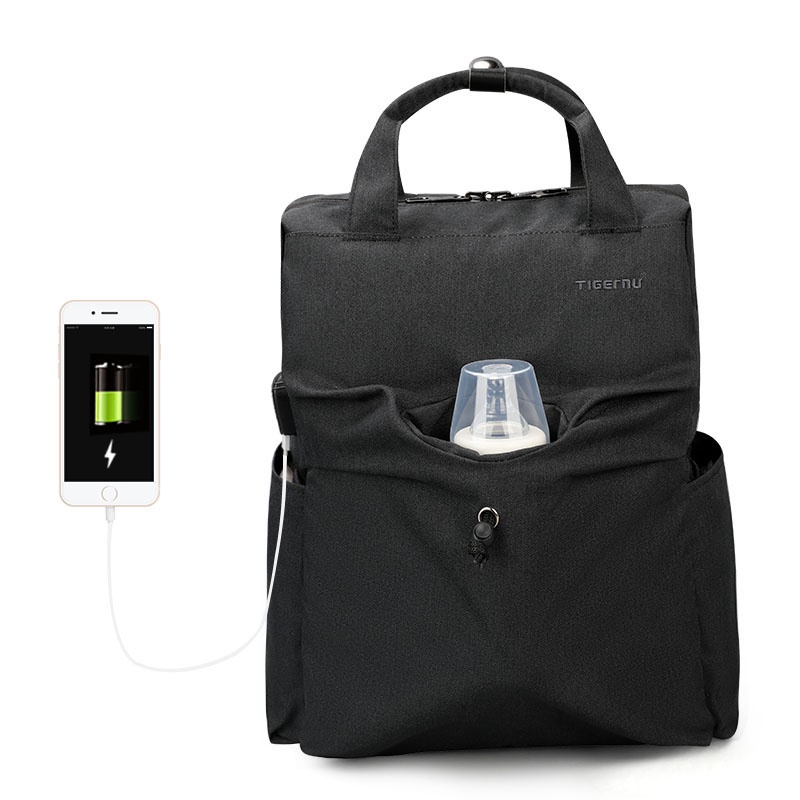 Рюкзак женский для мамы Tigernu T-B3355, 6928112308866, темно-серый 15 6 рюкзак для ноутбука tigernu t b3221 темно серый