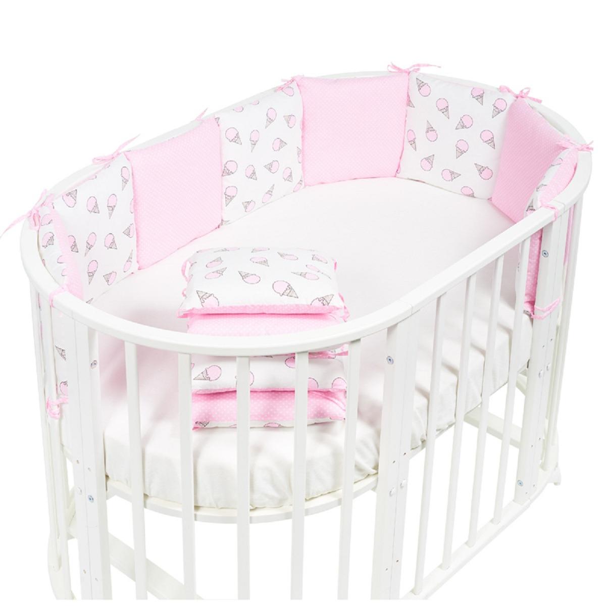Бортики в кроватку Sweet Baby Gelato, 411948, розовый, 12 частей