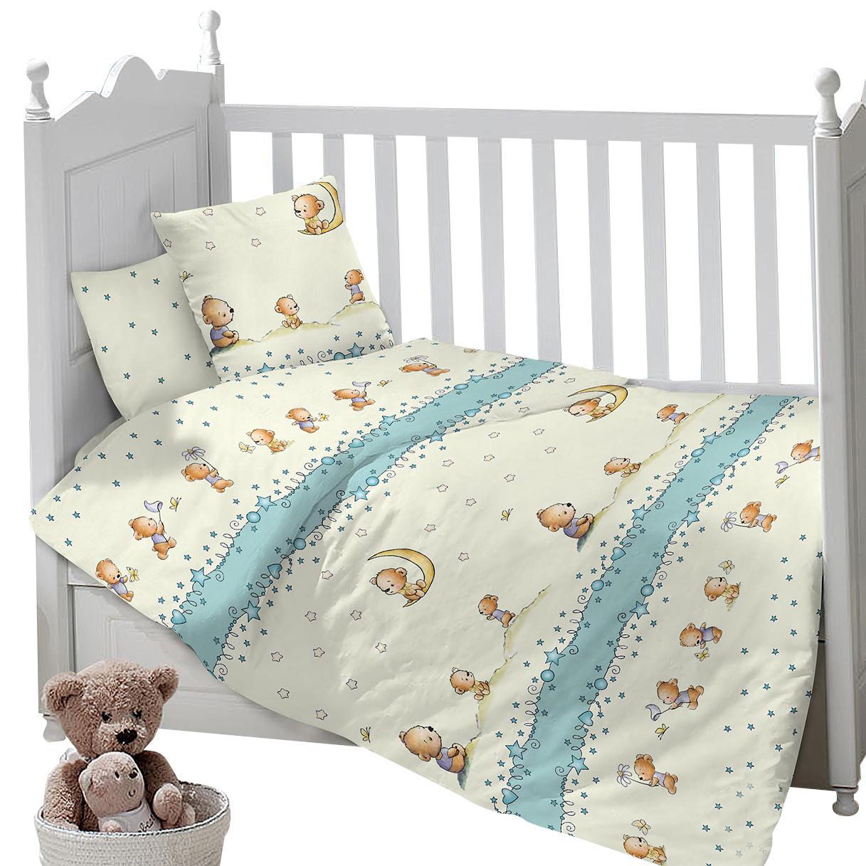 Комплект постельного белья Sweet Baby Gioco, 413701, бежевый, 3 предмета