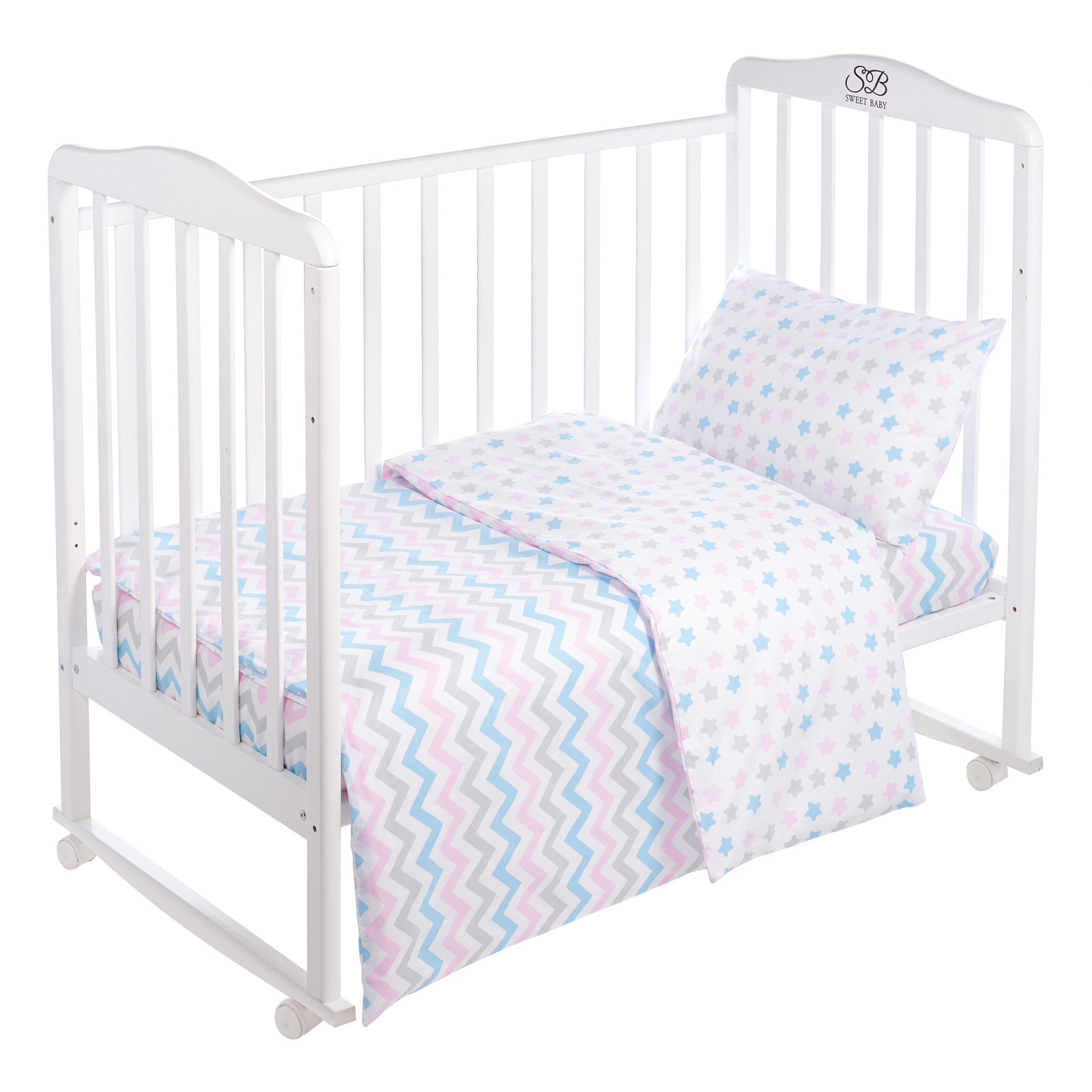 Комплект постельного белья Sweet Baby Colori, 419068, белый, 3 предмета