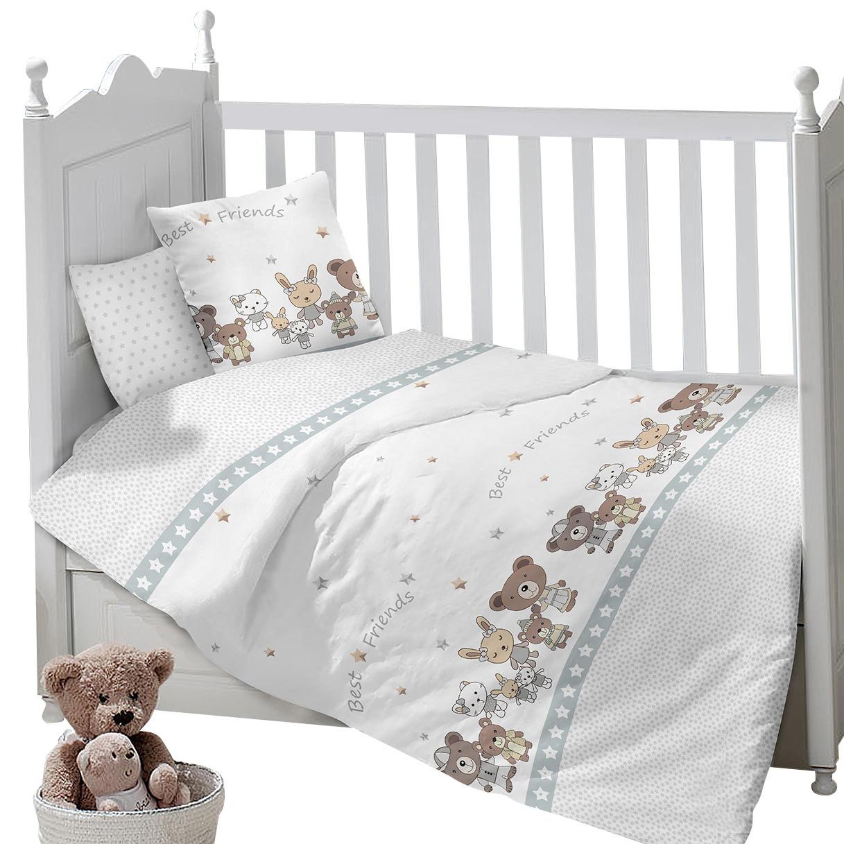 Комплект постельного белья Sweet Baby Gioco, 419296, белый, 3 предмета