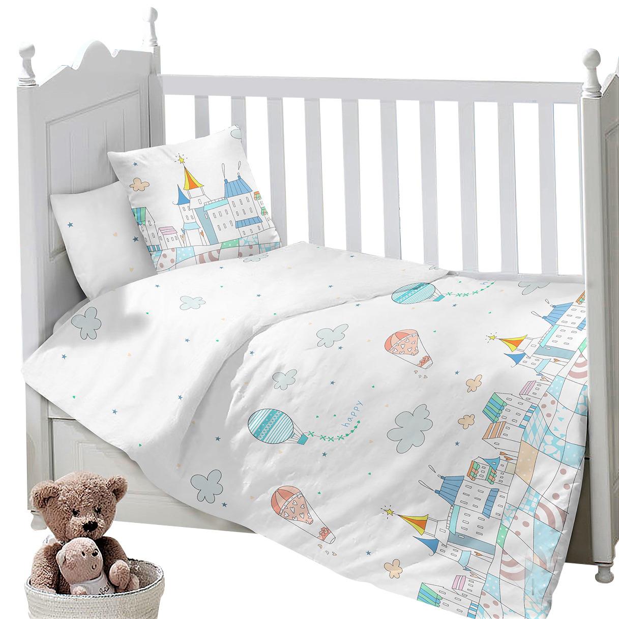 Комплект постельного белья Sweet Baby Gioco, 419299, белый, 3 предмета комплект постельного белья 3 предмета erbesi birba белый песочный