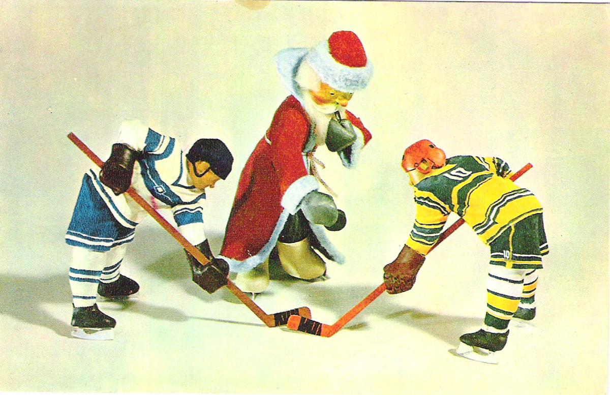 Советский хоккей открытки