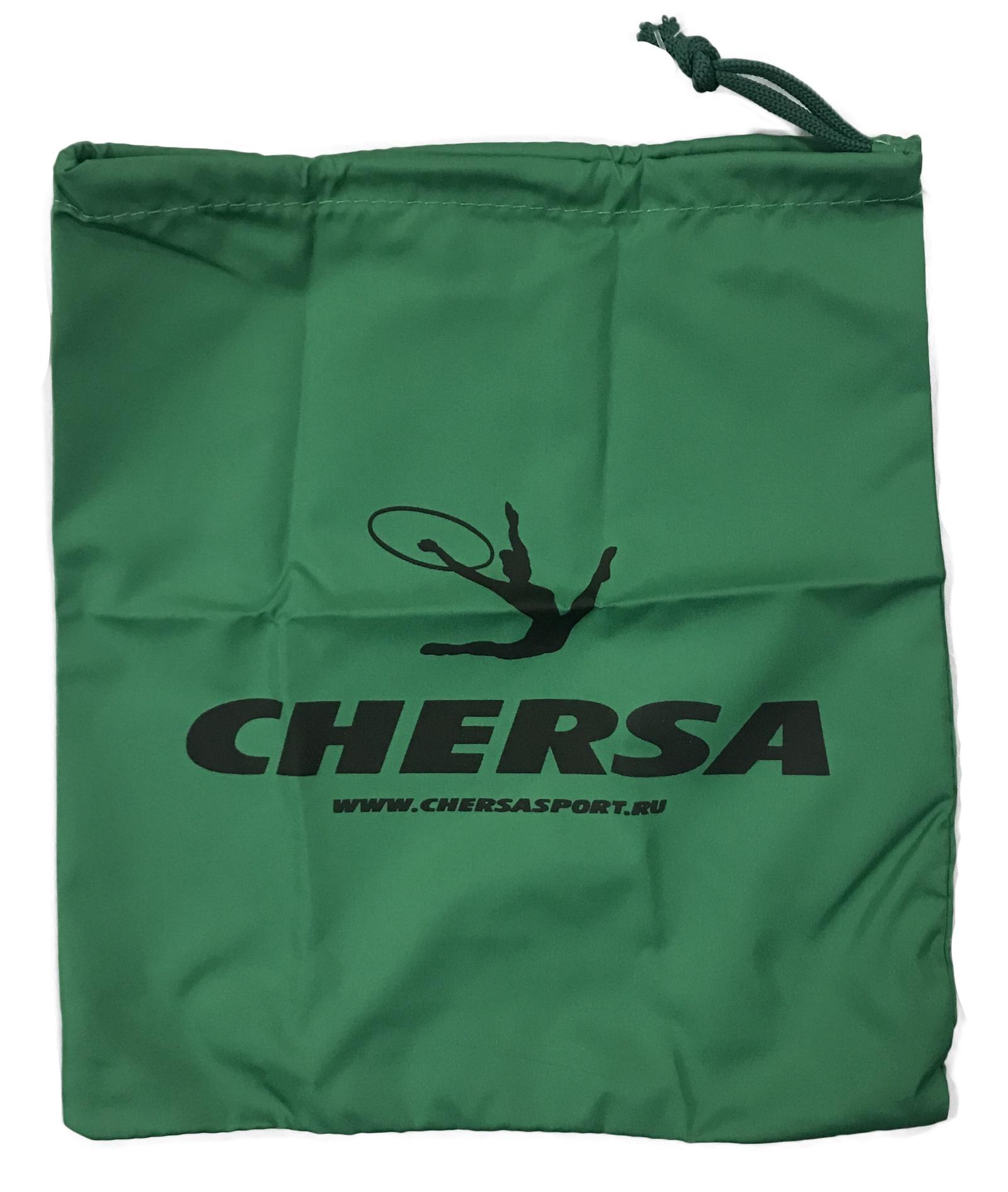 Чехол для гимнастической скакалки Chersa Чехол-скакалка, зеленый5848_зеленыйУдобный, легкий чехол для хранения скакалки из водонепроницаемого материала на эластичном шнурке.