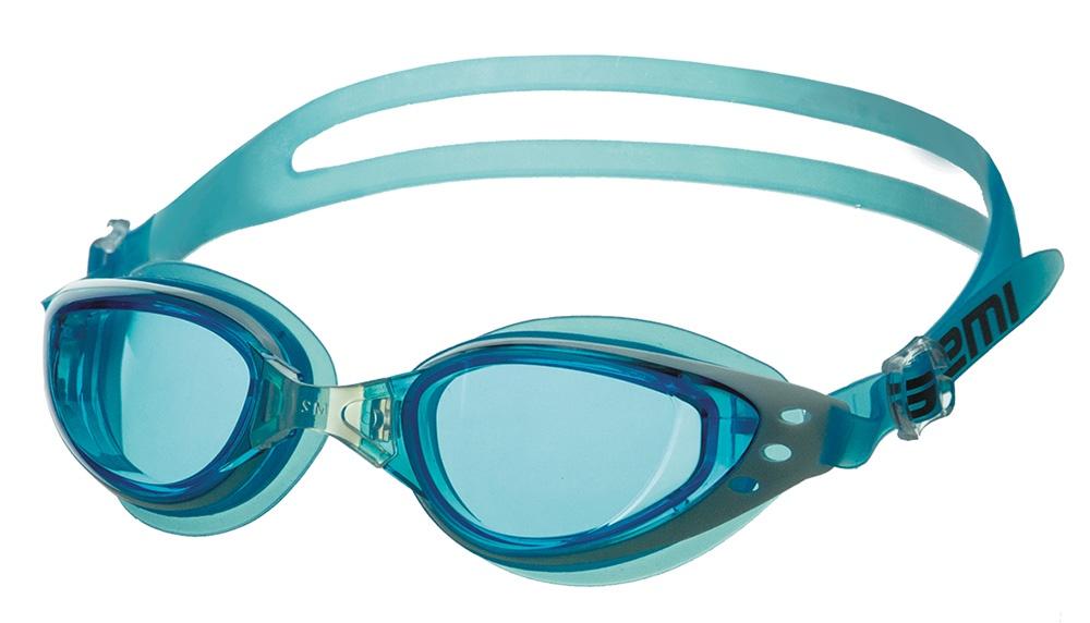Очки для плавания Atemi, B201, голубой, белый очки для плавания atemi детские s202 розовый