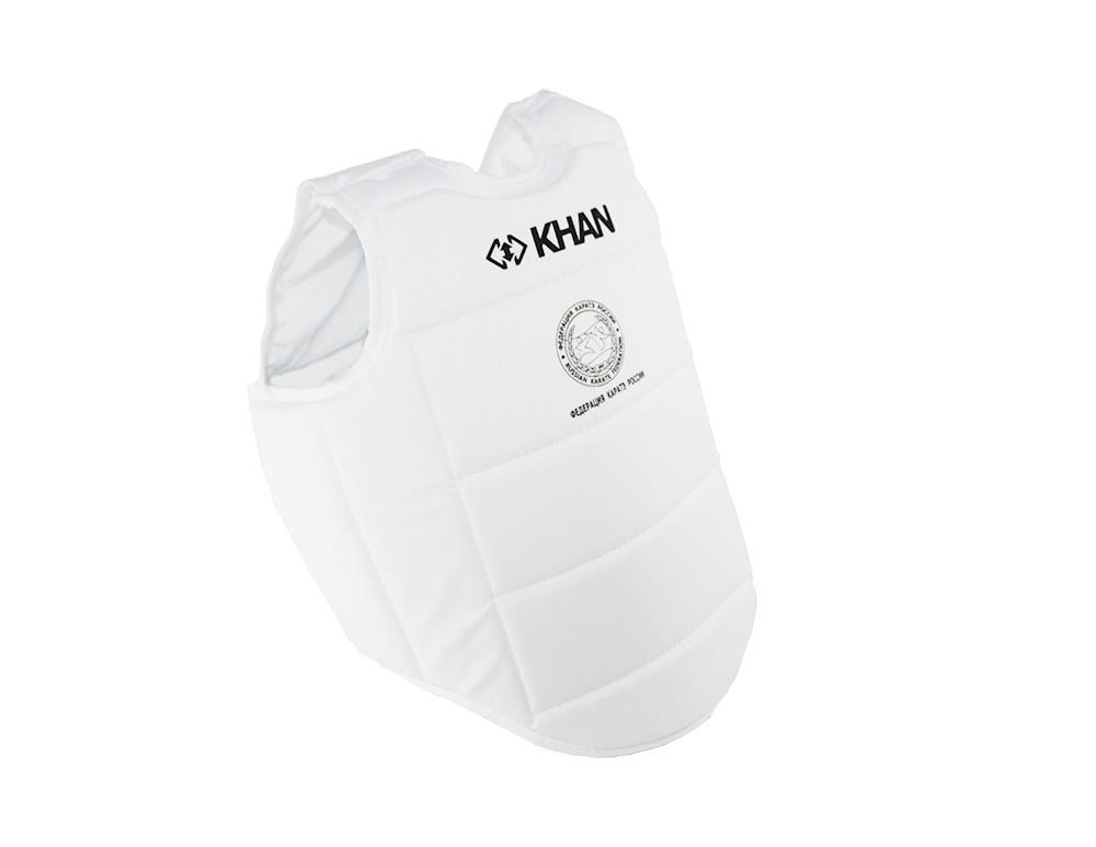 Защита торса Khan Каратэ ФКР, FKR5000-1, бежевый, размер XS защита торса khan каратэ фкр fkr5000 4 бежевый размер l