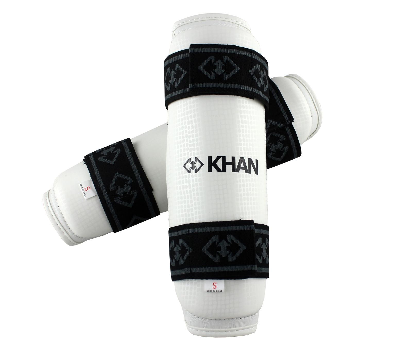 Защита голени Khan Club, E12008-3, белый, размер M цена и фото
