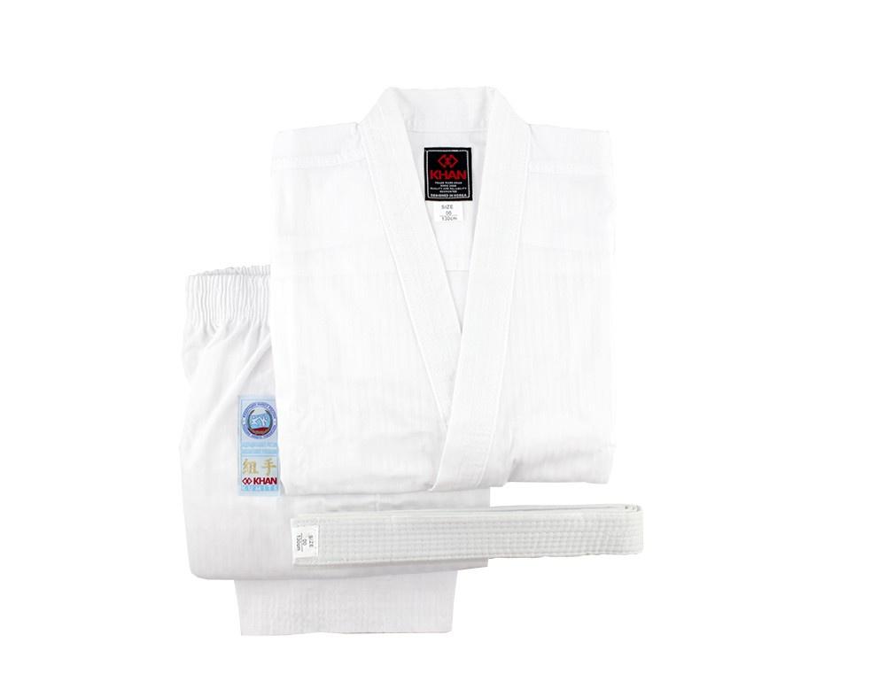 Кимоно для карате Khan форма для карате khan classic kumite фкр fkr3000 цвет белый размер 110