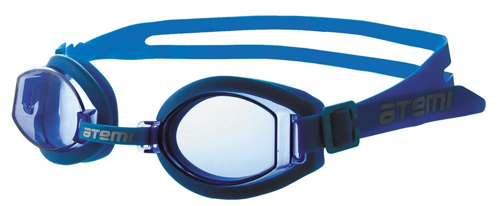 Очки для плавания Atemi детские, S203, синий очки для плавания atemi детские s202 розовый