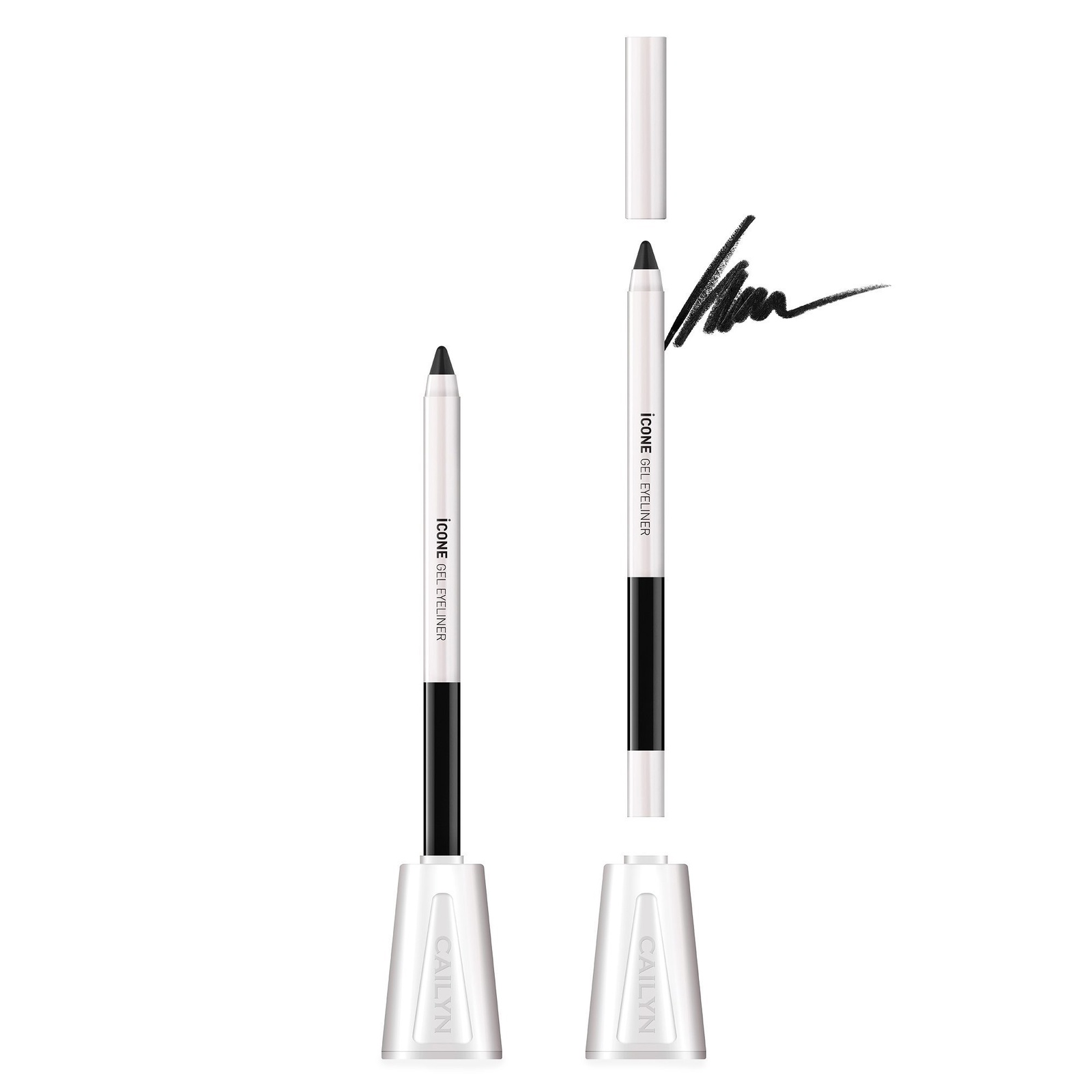 Карандаш для глаз Cailyn iCone Gel Eyeliner оттенок E01 Black, 1.2 гр платок icone