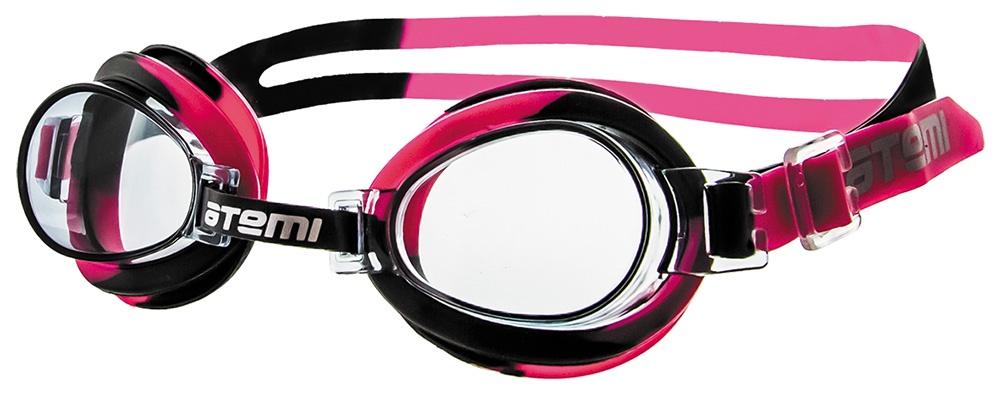 Очки для плавания Atemi детские, S303, черный, розовый