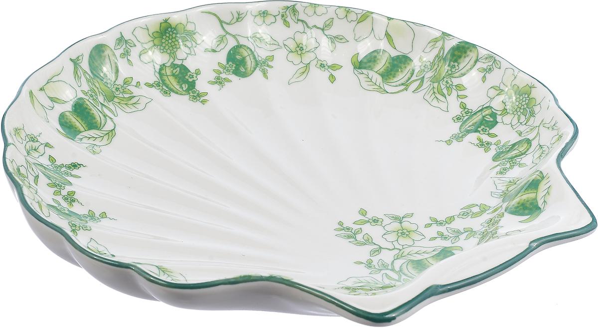 Блюдо Bekker, цвет: белый, зеленый. BK-7005