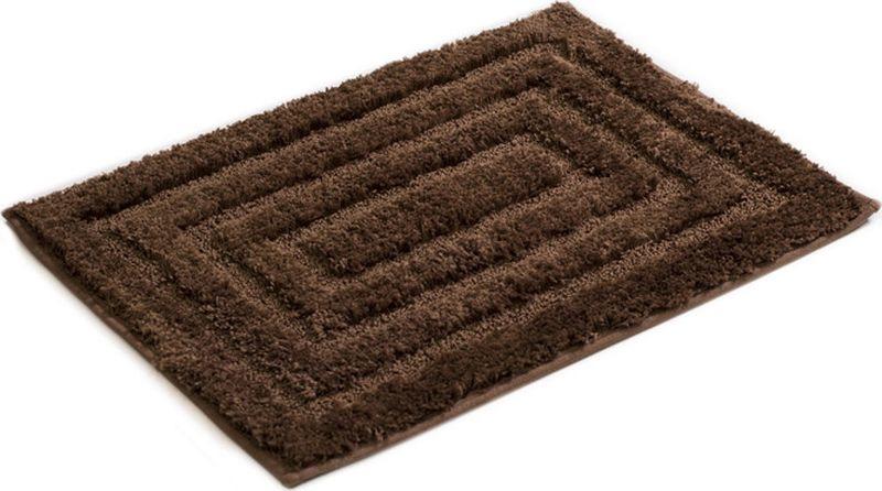 Коврик для ванной Grampus, 5001I, коричневый, 45 х 65 см5001IКоврик для ванной с лекгостью дополнит интерьер любой ванной комнаты. Высококачественное покрытие из микрофибры и латексная основа позволяют использовать коврик длительное время.