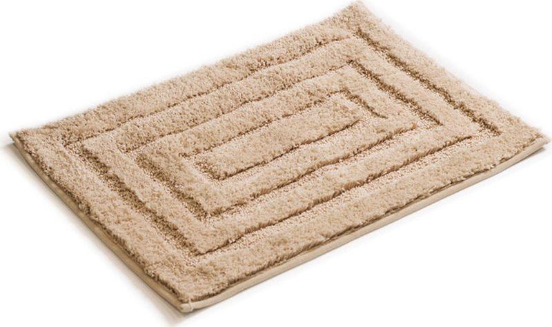 Коврик для ванной Grampus, 5001А, бежевый, 45 х 65 см5001АКоврик для ванной с лекгостью дополнит интерьер любой ванной комнаты. Высококачественное покрытие из микрофибры и латексная основа позволяют использовать коврик длительное время.