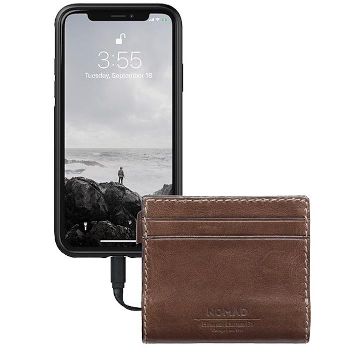 Фото - Кошелек-аккумулятор Nomad Slim Charging Wallet аккумулятор