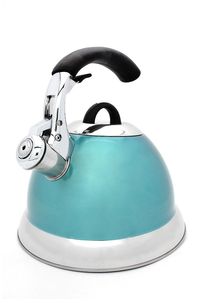 Чайник со свистком Катунь, КТ-115G, бирюзовый, 3,0 л чайник катунь кт 106f бирюзовый 2 5 л нержавеющая сталь