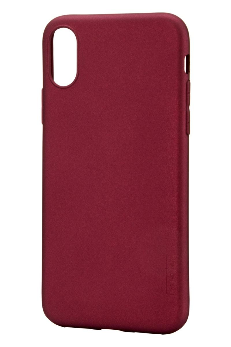 Чехол для сотового телефона X-level Apple iPhone X/XS, бордовый