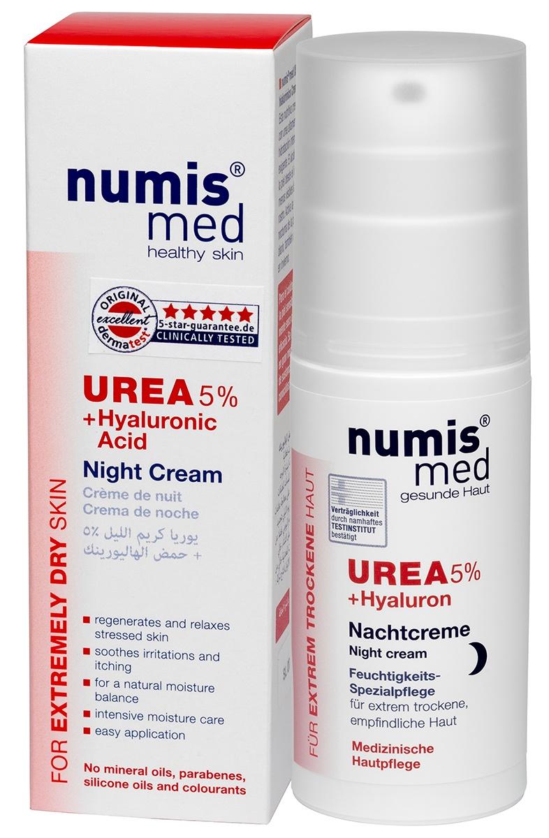 Крем для ухода за кожей numis® med Ночной Крем с 5 % мочевиной и гиалуроновой кислотой numis med