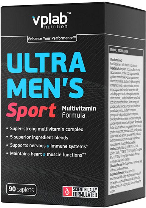 Витаминно-минеральный комплекс для мужчин Vplab Ultra Men's Sport Multivitamin Formula, 90 капсул витаминно минеральный комплекс для женщин vplab ultra women s multivitamin formula 90 капсул