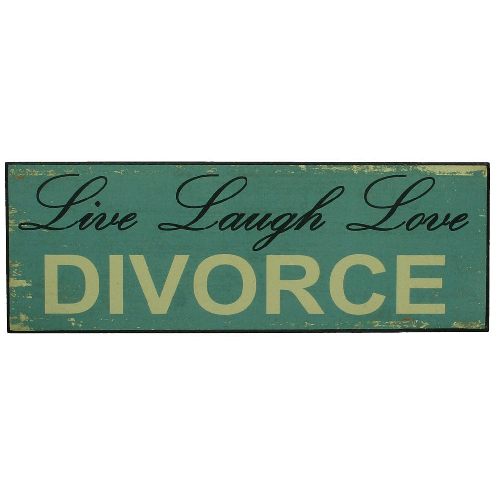 Декоративная табличка RICH LINE Home Decor Live laugh love divorce LEV-4915, бежевый, коричневый, 34х12 см