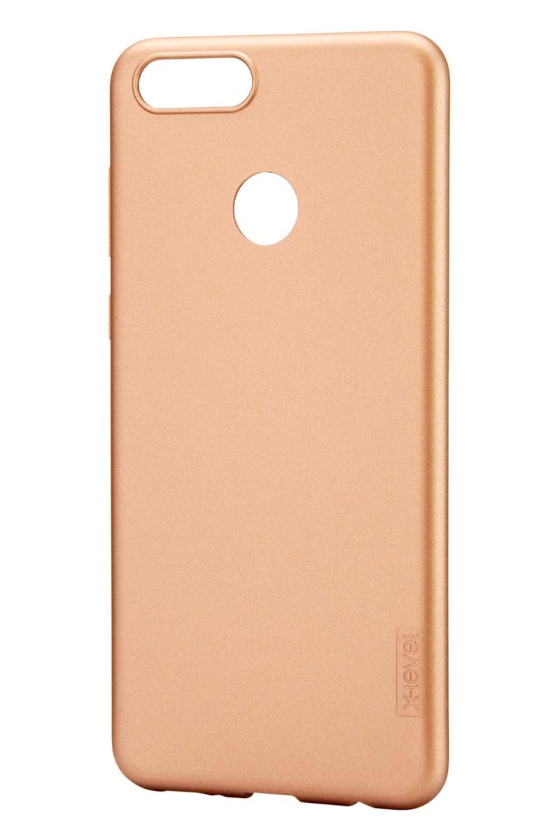 Чехол для сотового телефона X-level Huawei Honor 7X, золотой