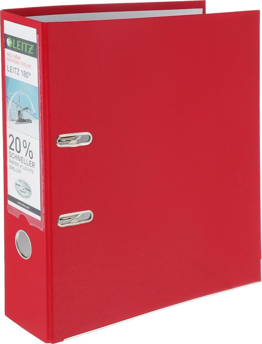 Leitz Папка-регистратор 180° обложка 80 мм цвет красный крышка bekker bk 5411 24cm
