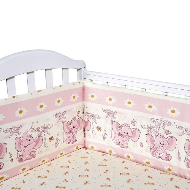 Детский комплект постельного белья Baby Nice Слоненок, S223/15RO, розовый комплект постельного белья детский baby nice луны звездочки цвет салатовый