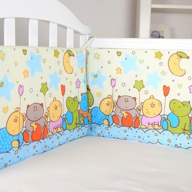 Комплект в кроватку СПОКИ НОКИ Звездопад, S211/11YE, желтый, голубой