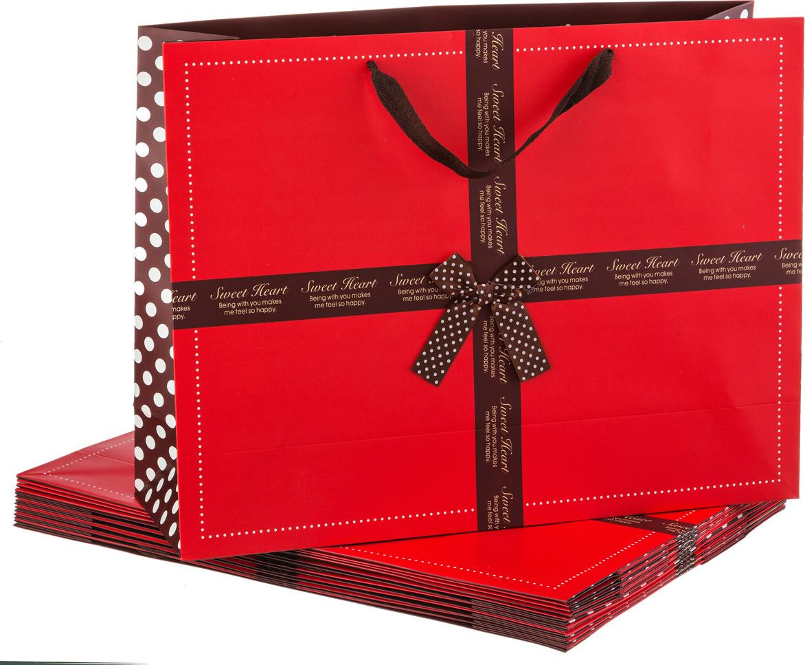 Пакеты бумажные Lefard, 521-078, 47 х 35 х 15 см, 10 шт