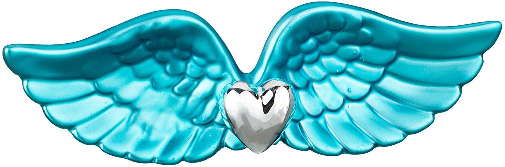 Фигурка декоративная Lefard Крылья, 737-087, бирюзовый, 19 х 6 х 3 см зажигалка zippo 214 abstract 3 6 х 1 2 х 5 6 см