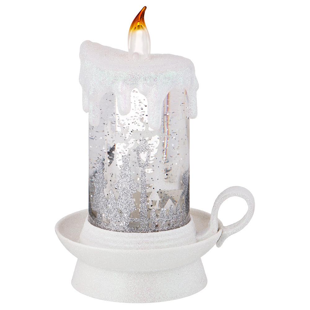 Подсвечник Lefard, 865-400, белый, со свечой, с подсветкой, 13 х 18 см цены онлайн
