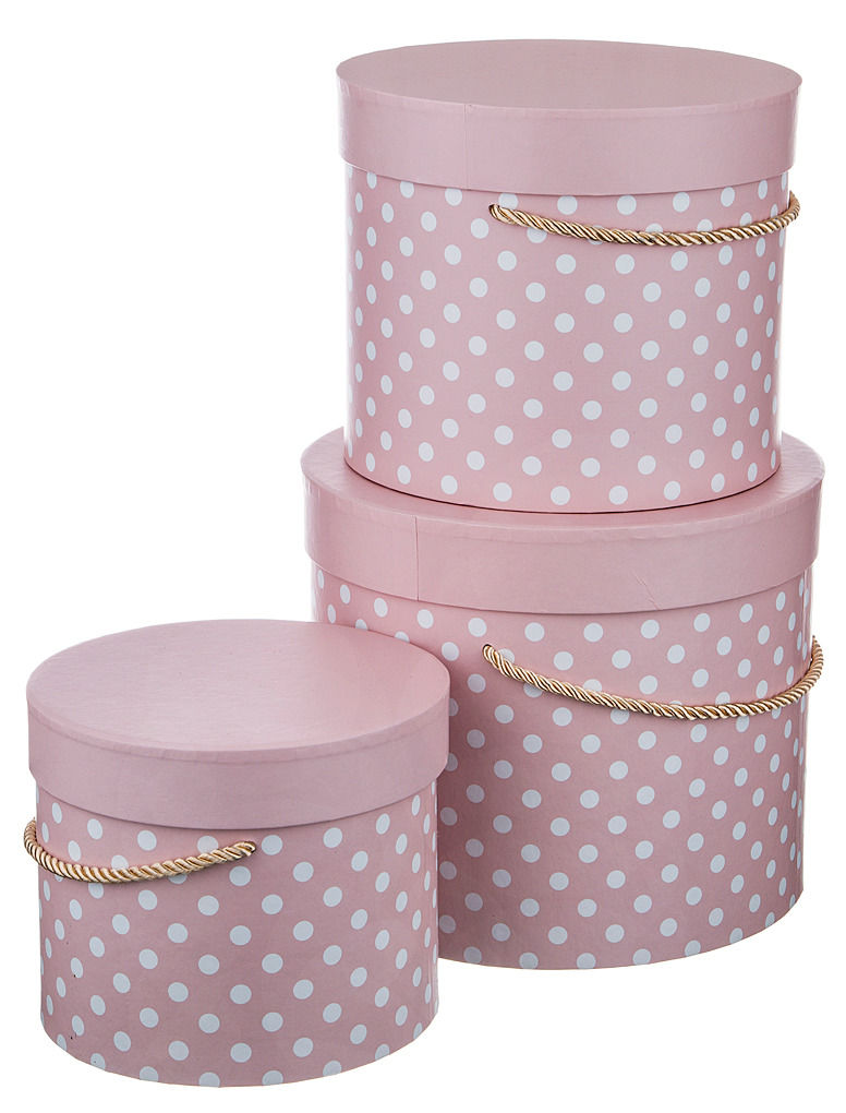 Набор подарочных коробок Lefard, 37-270, розовый, 3 шт набор праздничных фигурок lefard рождество 3 шт bh0785441s