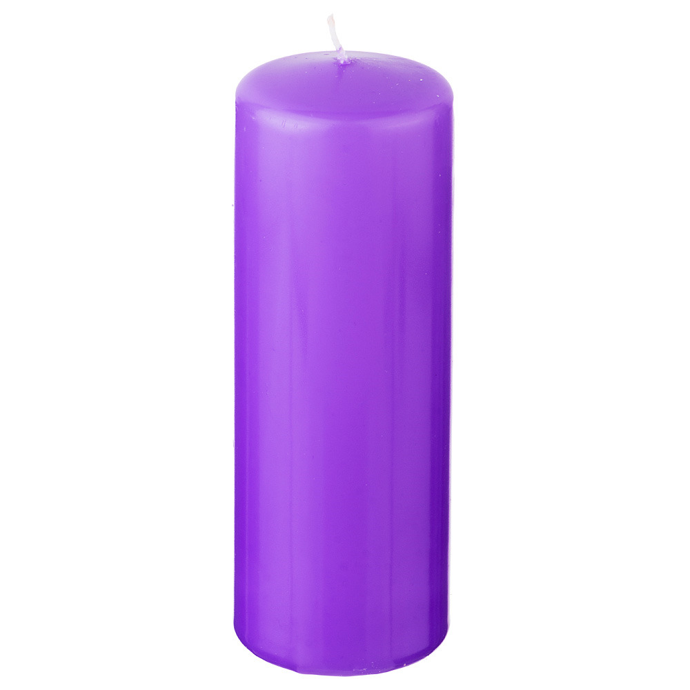 Свеча праздничная Lefard, 348-419, лавандовый, 7 х 20 см свеча праздничная lefard christmas time 348 438 разноцветный 6 х 7 см