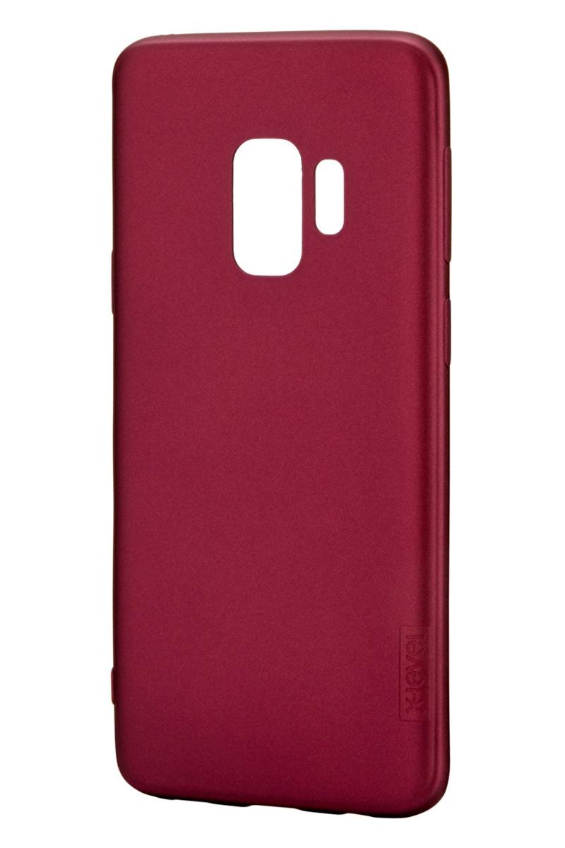Чехол для сотового телефона X-level Samsung S9, бордовый