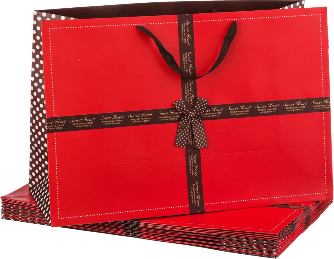 Пакеты бумажные Lefard, 521-099, 60 х 40 х 23 см, 10 шт
