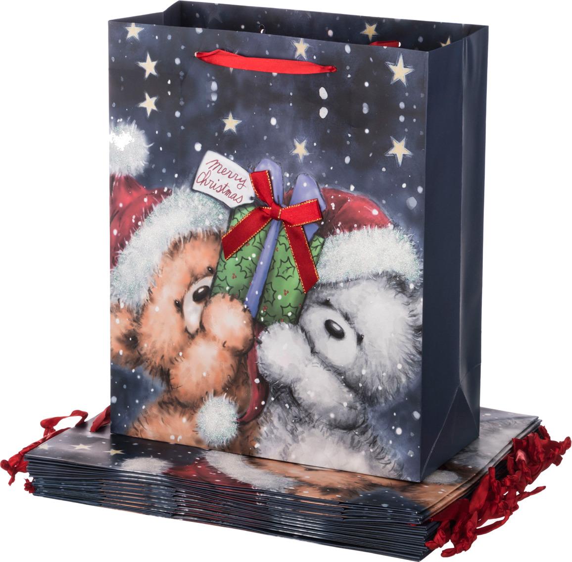 """Пакеты бумажные Lefard """"Новый год"""", 512-531, 32 х 26 х 12 см, 12 шт"""