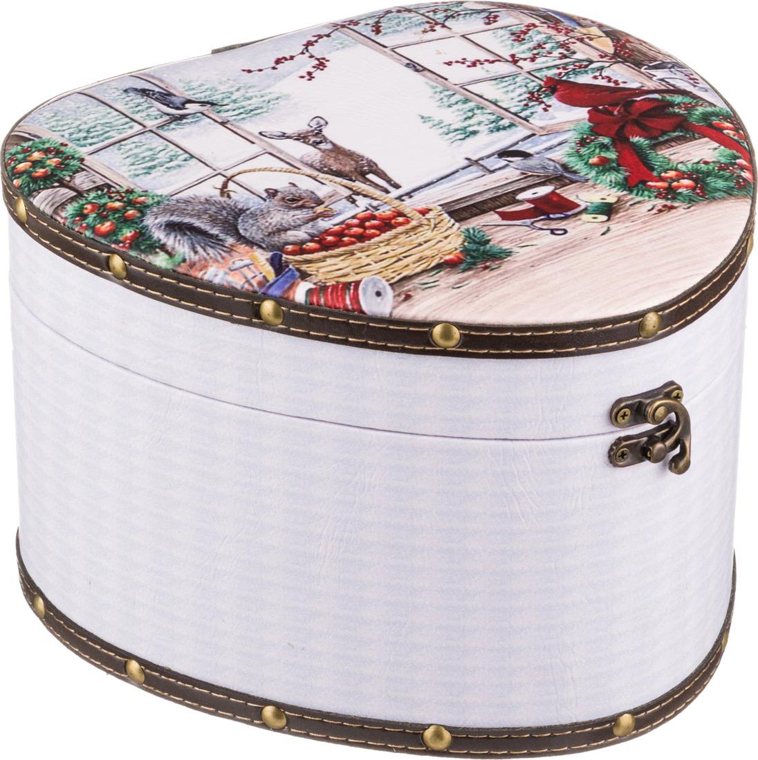 Набор шкатулок Lefard Новогодний интерьер, 41-338, 2 шт набор шкатулок для рукоделия win max 2 шт 80834